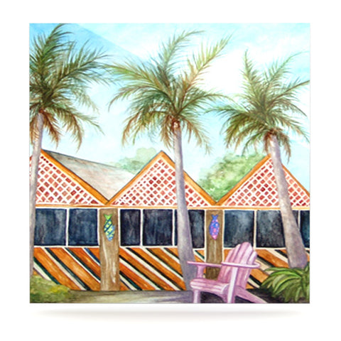 "Rosie Brown ""McT on Sanibel"" Luxe Square Panel - KESS InHouse  - 1"