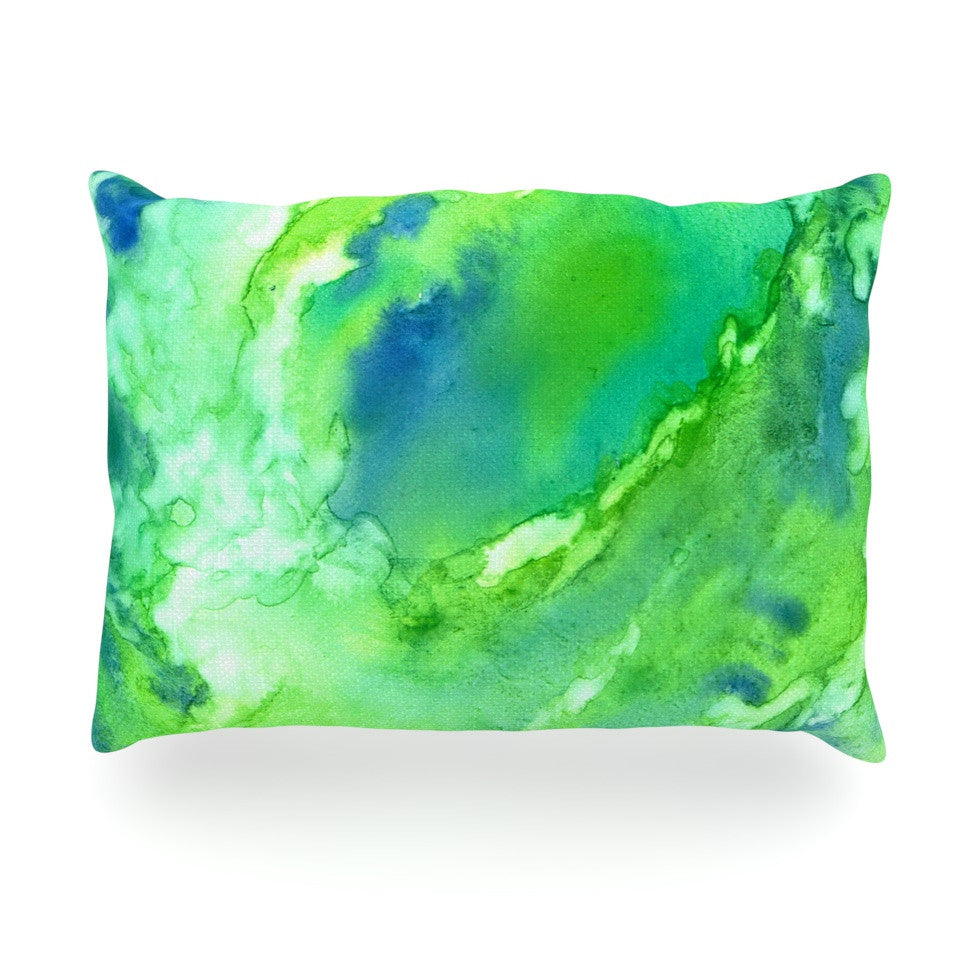 "Rosie Brown ""Touch of Blue"" Oblong Pillow - KESS InHouse"