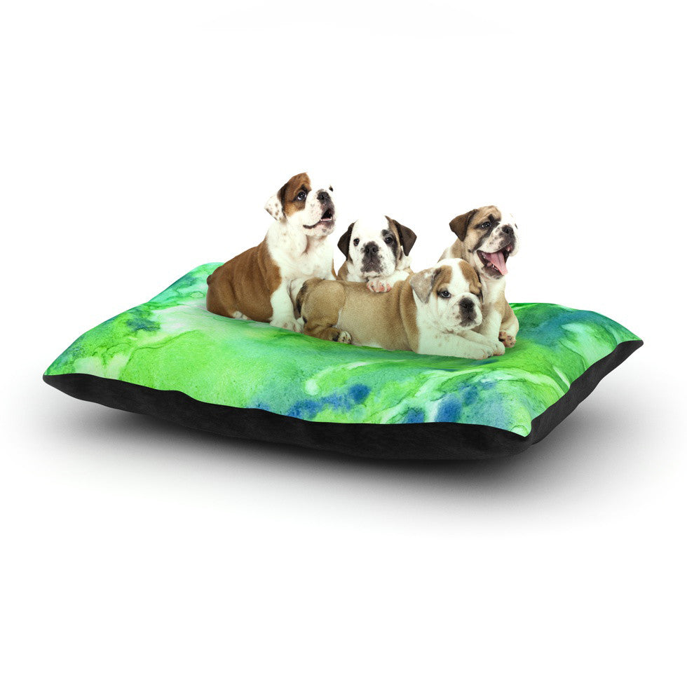 "Rosie Brown ""Touch of Blue"" Dog Bed - KESS InHouse  - 1"