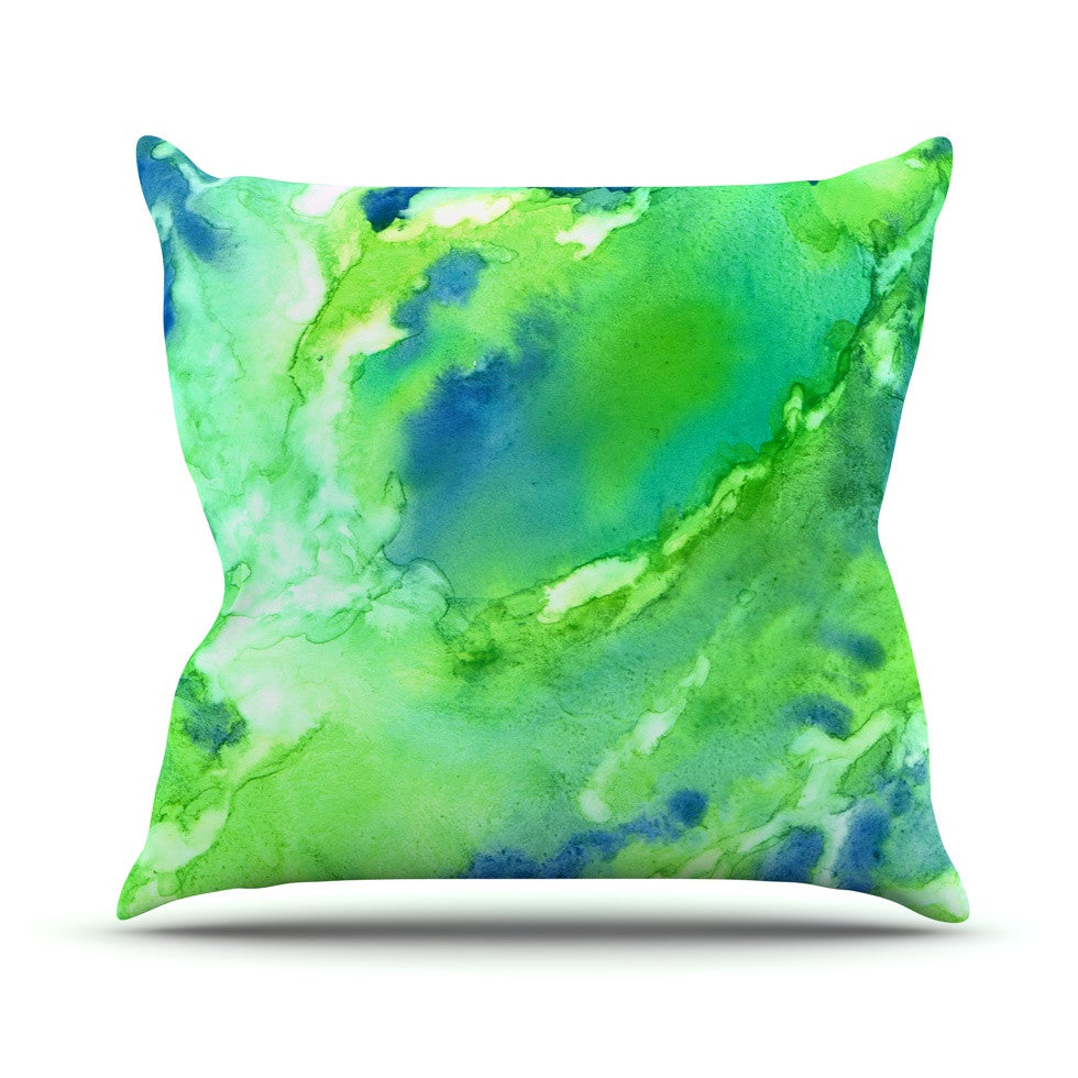 "Rosie Brown ""Touch of Blue"" Throw Pillow - KESS InHouse  - 1"