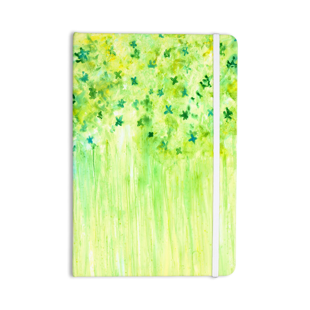 "Rosie Brown ""April Showers"" Lime Green Everything Notebook - KESS InHouse  - 1"