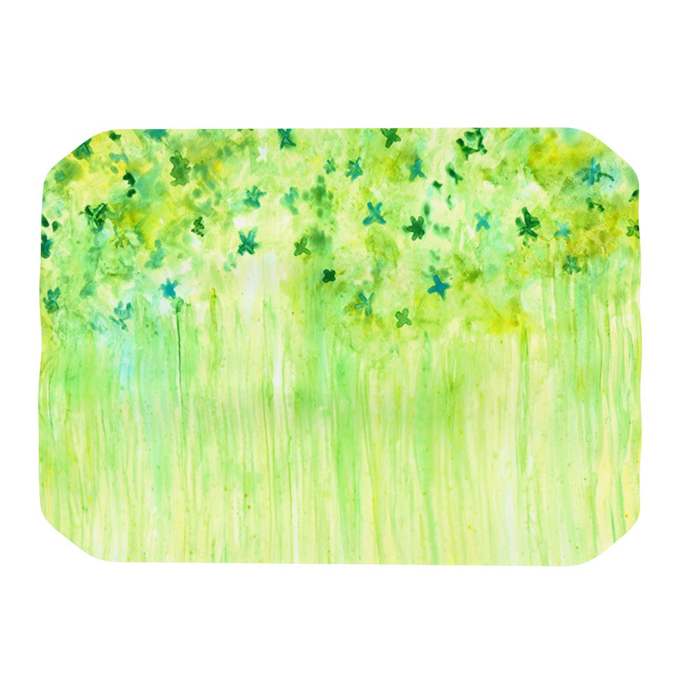 "Rosie Brown ""April Showers"" Lime Green Place Mat - KESS InHouse"