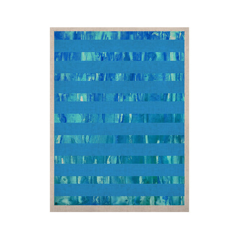 "Rosie Brown ""Wet Wild Stripes"" Aqua Blue KESS Naturals Canvas (Frame not Included) - KESS InHouse  - 1"