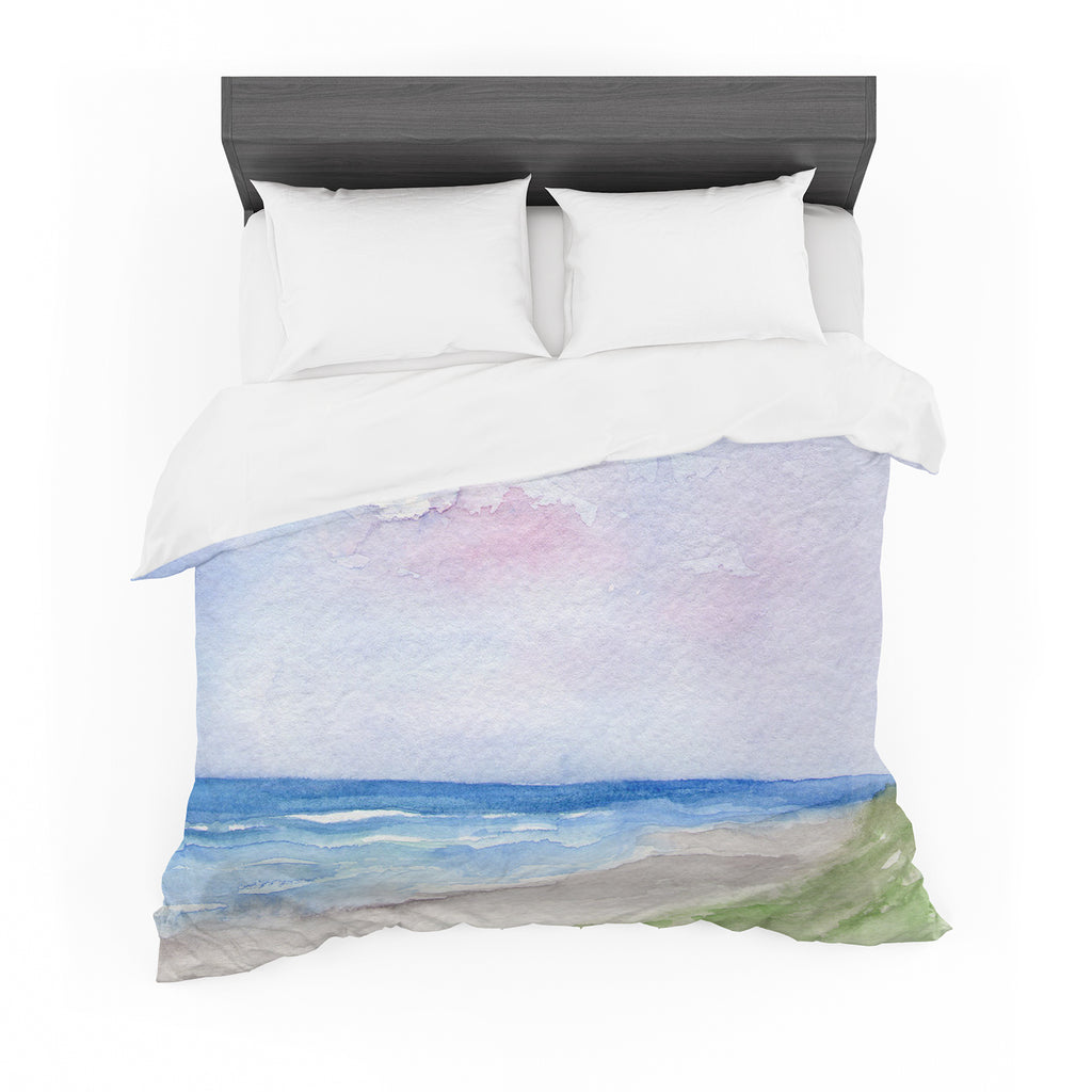 "Rosie Brown ""Wet Sand"" Beach View Cotton Duvet"