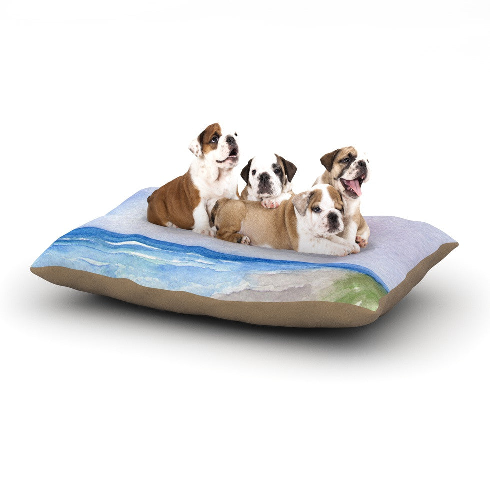 "Rosie Brown ""Wet Sand"" Beach View Dog Bed - KESS InHouse  - 1"