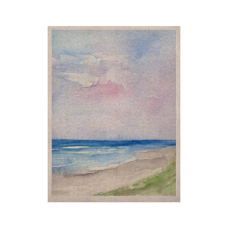 "Rosie Brown ""Wet Sand"" Beach View KESS Naturals Canvas (Frame not Included) - KESS InHouse  - 1"
