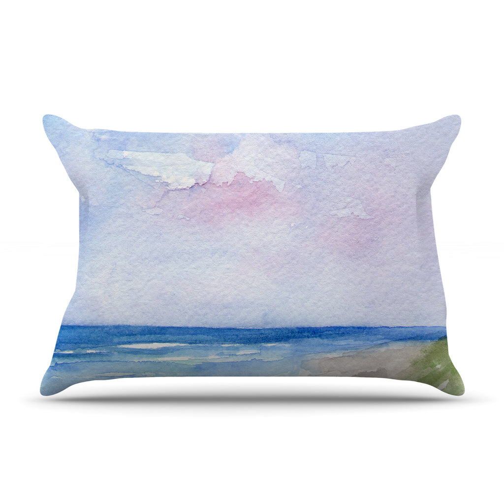 "Rosie Brown ""Wet Sand"" Beach View Pillow Sham"