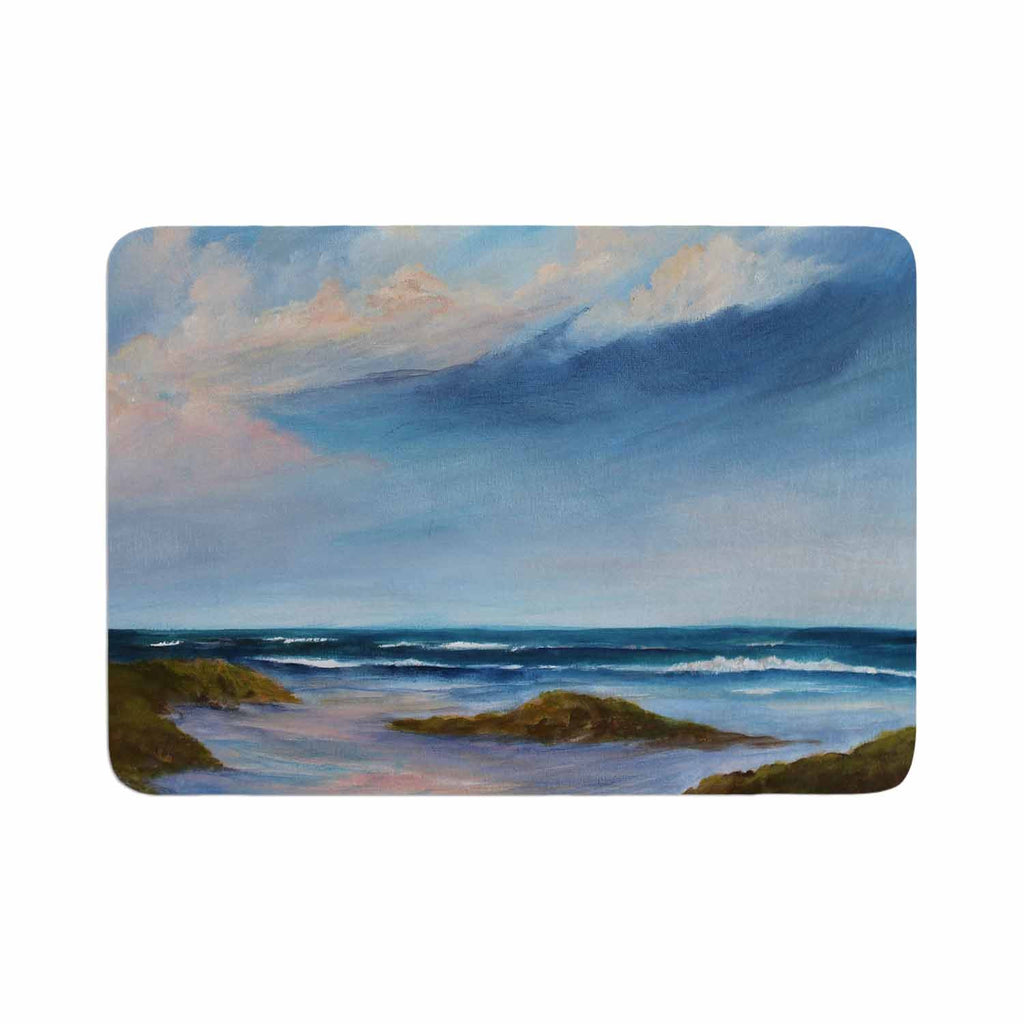 "Rosie Brown ""Summer Showers"" Beach Memory Foam Bath Mat - KESS InHouse"