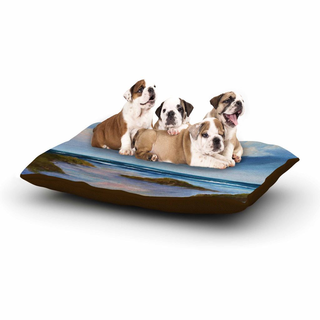 "Rosie Brown ""Summer Showers"" Beach Dog Bed - KESS InHouse  - 1"