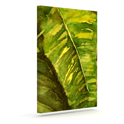 "Rosie Brown ""Tropical Garden"" Leaf Green Canvas Art - KESS InHouse  - 1"