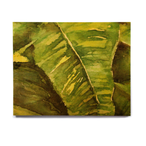"Rosie Brown ""Tropical Garden"" Leaf Green Birchwood Wall Art - KESS InHouse  - 1"