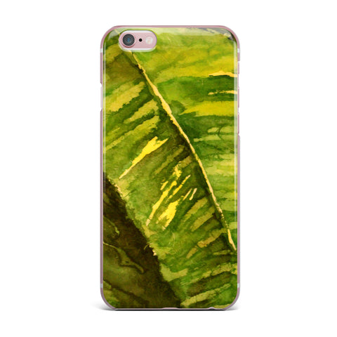 "Rosie Brown ""Tropical Garden"" Leaf Green iPhone Case - KESS InHouse"