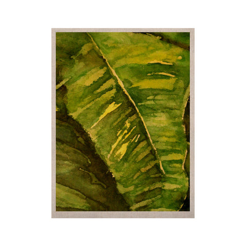 "Rosie Brown ""Tropical Garden"" Leaf Green KESS Naturals Canvas (Frame not Included) - KESS InHouse  - 1"