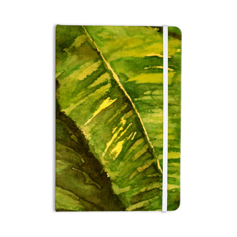 "Rosie Brown ""Tropical Garden"" Leaf Green Everything Notebook - KESS InHouse  - 1"