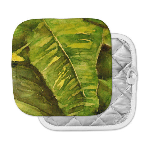 "Rosie Brown ""Tropical Garden"" Leaf Green Pot Holder"