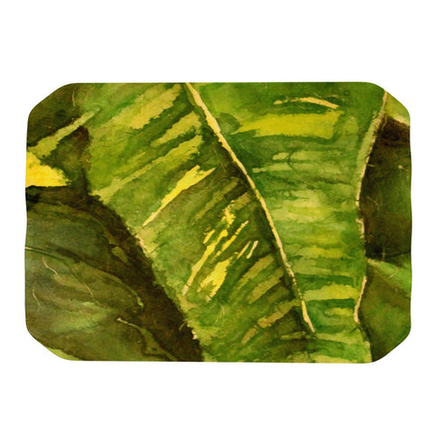 "Rosie Brown ""Tropical Garden"" Leaf Green Place Mat - KESS InHouse"