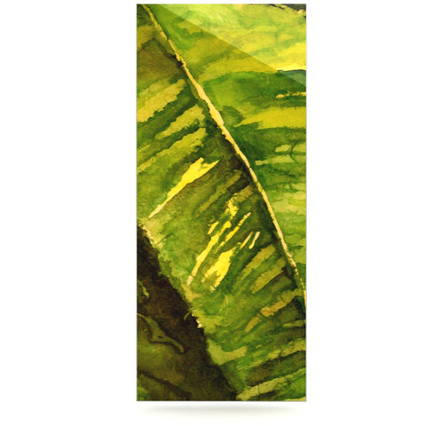 "Rosie Brown ""Tropical Garden"" Leaf Green Luxe Rectangle Panel - KESS InHouse  - 1"
