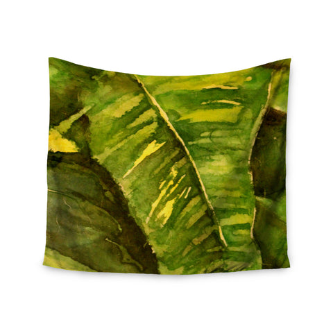 "Rosie Brown ""Tropical Garden"" Leaf Green Wall Tapestry - KESS InHouse  - 1"