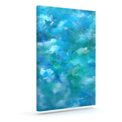 "Rosie Brown ""Ocean Waters"" Blue Aqua Canvas Art - KESS InHouse  - 1"