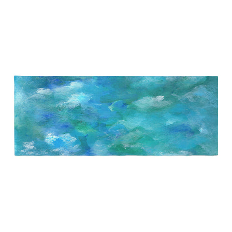 "Rosie Brown ""Ocean Waters"" Blue Aqua Bed Runner - KESS InHouse"