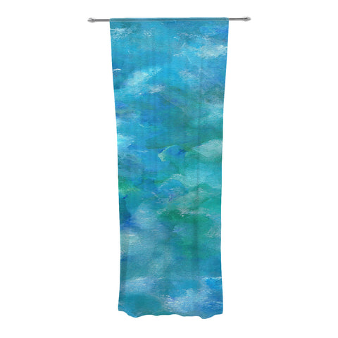 "Rosie Brown ""Ocean Waters"" Blue Aqua Decorative Sheer Curtain - KESS InHouse"