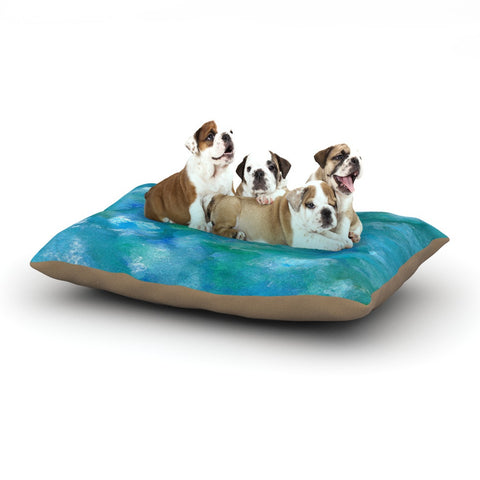 "Rosie Brown ""Ocean Waters"" Blue Aqua Dog Bed - KESS InHouse  - 1"