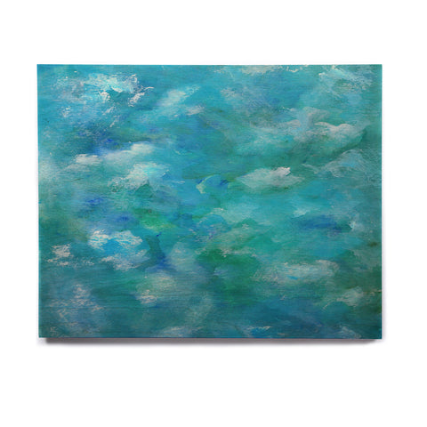 "Rosie Brown ""Ocean Waters"" Blue Aqua Birchwood Wall Art - KESS InHouse  - 1"