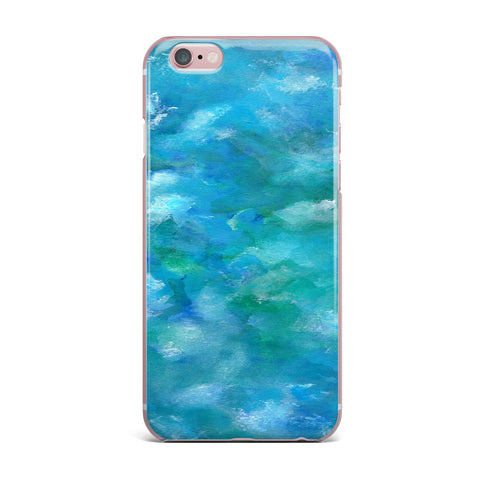 "Rosie Brown ""Ocean Waters"" Blue Aqua iPhone Case - KESS InHouse"