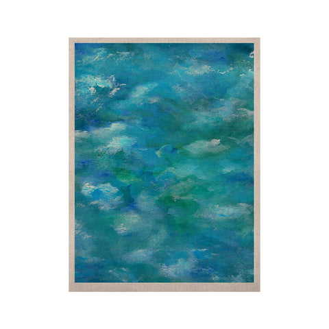"Rosie Brown ""Ocean Waters"" Blue Aqua KESS Naturals Canvas (Frame not Included) - KESS InHouse  - 1"