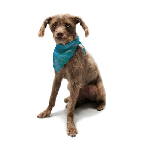 "Rosie Brown ""Ocean Waters"" Blue Aqua Pet Bandana - KESS InHouse  - 1"