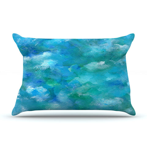 "Rosie Brown ""Ocean Waters"" Blue Aqua Pillow Sham - KESS InHouse"