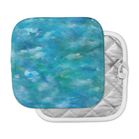 "Rosie Brown ""Ocean Waters"" Blue Aqua Pot Holder"