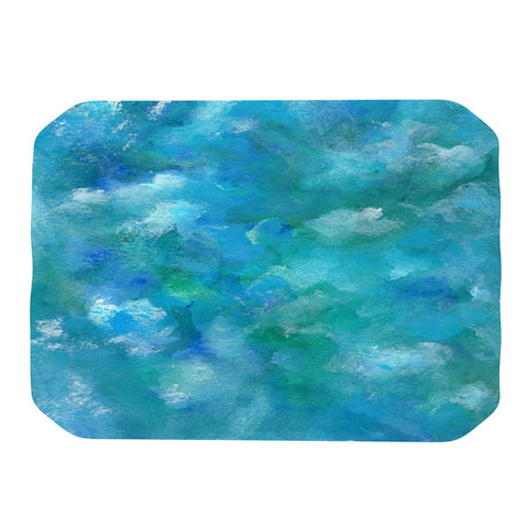"Rosie Brown ""Ocean Waters"" Blue Aqua Place Mat - KESS InHouse"