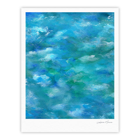 "Rosie Brown ""Ocean Waters"" Blue Aqua Fine Art Gallery Print - KESS InHouse"