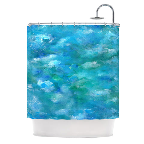 "Rosie Brown ""Ocean Waters"" Blue Aqua Shower Curtain - KESS InHouse"