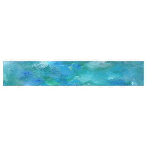 "Rosie Brown ""Ocean Waters"" Blue Aqua Table Runner - KESS InHouse  - 1"