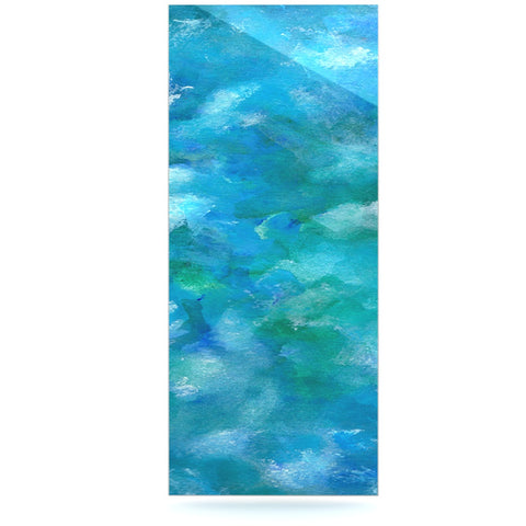 "Rosie Brown ""Ocean Waters"" Blue Aqua Luxe Rectangle Panel - KESS InHouse  - 1"