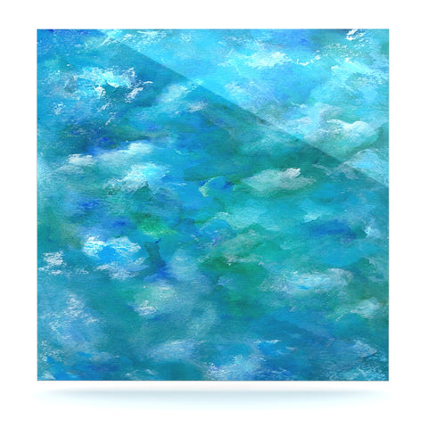 "Rosie Brown ""Ocean Waters"" Blue Aqua Luxe Square Panel - KESS InHouse  - 1"