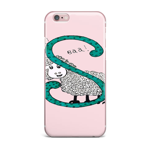 "Rosie Brown ""Sis for Sheep Pink"" Pink Teal iPhone Case - KESS InHouse"