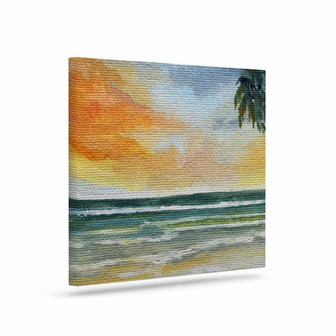 "Rosie Brown ""End of Day"" Beach Canvas Art - KESS InHouse  - 1"