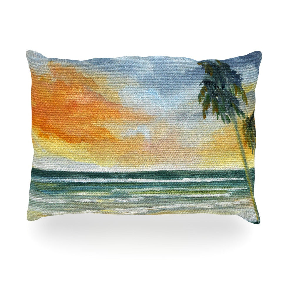 "Rosie Brown ""End of Day"" Beach Oblong Pillow - KESS InHouse"