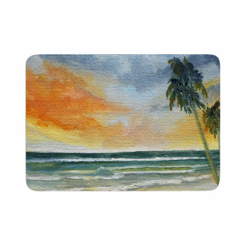 "Rosie Brown ""End of Day"" Beach Memory Foam Bath Mat - KESS InHouse"