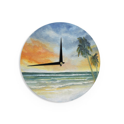 "Rosie Brown ""End of Day"" Beach Wall Clock - KESS InHouse"