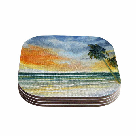 "Rosie Brown ""End of Day"" Beach Coasters (Set of 4)"