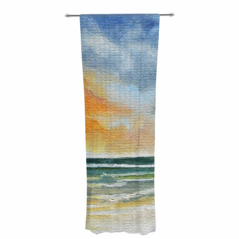 "Rosie Brown ""End of Day"" Beach Decorative Sheer Curtain - KESS InHouse  - 1"