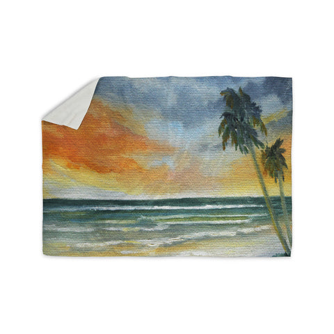 "Rosie Brown ""End of Day"" Beach Sherpa Blanket - KESS InHouse  - 1"