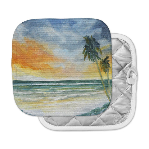 "Rosie Brown ""End of Day"" Beach Pot Holder"