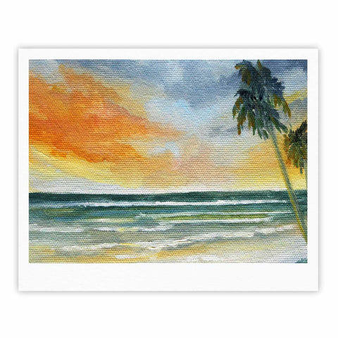 "Rosie Brown ""End of Day"" Beach Fine Art Gallery Print - KESS InHouse"