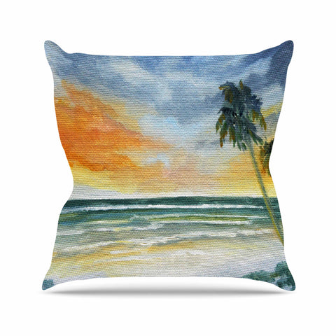 "Rosie Brown ""End of Day"" Beach Outdoor Throw Pillow - KESS InHouse  - 1"
