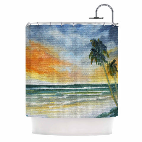 "Rosie Brown ""End of Day"" Beach Shower Curtain - KESS InHouse"